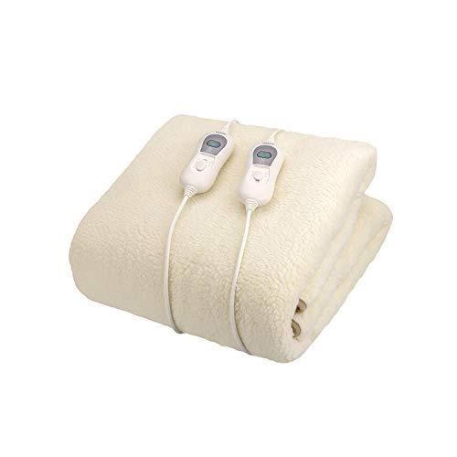 Wintem encanta+ coprimaterasso termico scaldaletto coperta termica elettrica con 3 livelli di temperatura termocoperta (matrimoniale 160x140 cm)