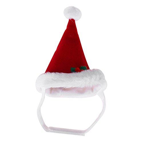 Demiawaking Haustier Katze Hunde Weihnacht Weihnachtsmann Kostüm Hut Bart warme Winter Hut Kappe
