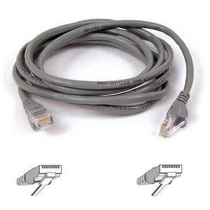 Belkin RJ45 CAT5e Patch Cable, Snagless Molded 2ft. 0.6m Grau Netzwerkkabel -