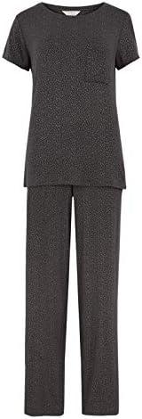 Marks & Spencer Women's Foil Spot Short Sleeve Pyjama Set, Char