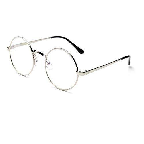 Unisex Klassische Brille Metallgestell Brillenfassung Vintage Brille Dekobrillen, Bluelucon Damen...