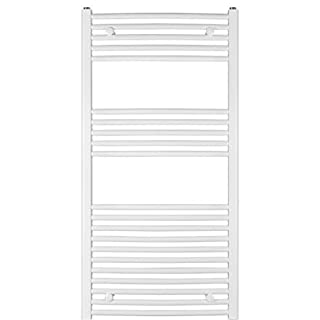 anapont Heated Towel Rail, Radiator, White, Curved, Valuable, Hand Towel Holder, Towel Dryer - 1175h x 500b