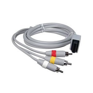 GNG Wii AV Cable 3-RCA Composite Male Lead Nintendo Wii / Wii U Game Console