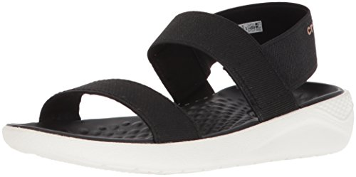 Crocs Women's Literide Sandal W Open Toe, Black (Black/White 066b), 5 UK