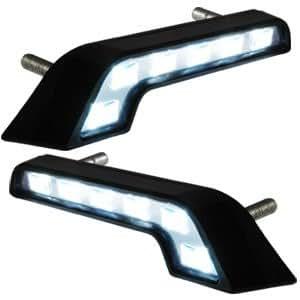 2x lampe blanc 6 led feux de jour pour voiture benz diurne. Black Bedroom Furniture Sets. Home Design Ideas