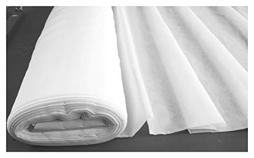 FLAME / FIRE RETARDANT VOILE- Plain White Fabric wedding drapes Crafts