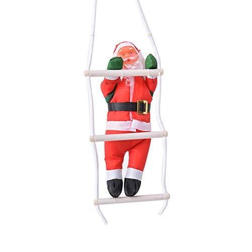 Wopenjucy 1psc decorazione da appendere a forma di babbo natale che si arrampica su una scala