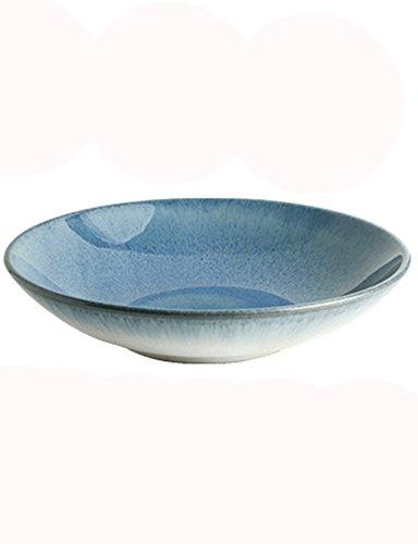 Salatschüsseln Hellblau Keramik Schüssel Personalisierte Besteck Flache Suppe Schüssel Home Dish...