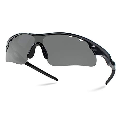 4c09ff9f6c Tempo Polarized Sports Sunglasses, Baseball Running Cycling Driving Fishing  Golf Motorcycle TAC Glasses for Men Women Youth,Anti-Fogging, 100% UV ...