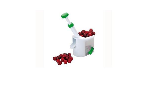 White//Green Ibili 774100 Cherry Stoner 16 cm