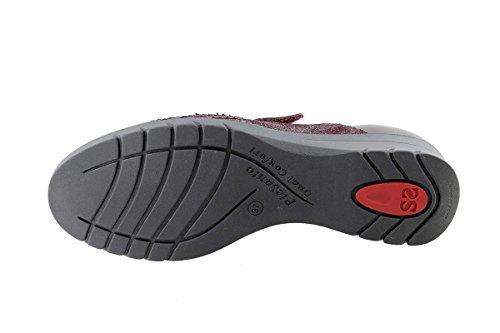 Chaussure femme confort en cuir PieSanto 175956 Velcro confortables amples Burdeos (Bordeaux)