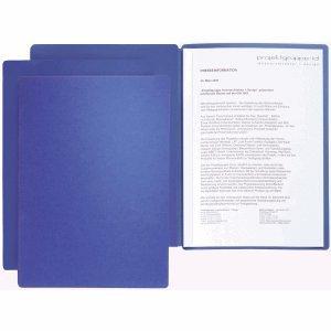 20 x Pagna Präsentationsmappe Star 2-teilig blau (Blaue Präsentationsmappen)