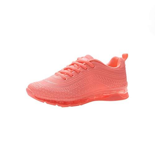 REALIKE Damen Sportschuhe Riemchen Laufschuhe 2019 Neu Mode Freizeitschuhe Einfarbig Weiche BreathableTurnschuhe Frauen Sommer Atmungsaktiv Gym Outdoor Schuhe Sneaker (Top-glas Snap)