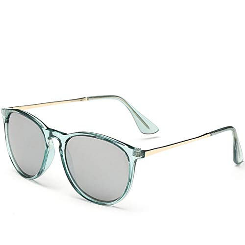 CCGSDJ Zonnebril Dames Retro Mode Sonnenbrille Farbige Sonnenbrille Runde Sonnenbrille Für Frauen Abgetönte Linse Kreis Damen Rosa Brillen