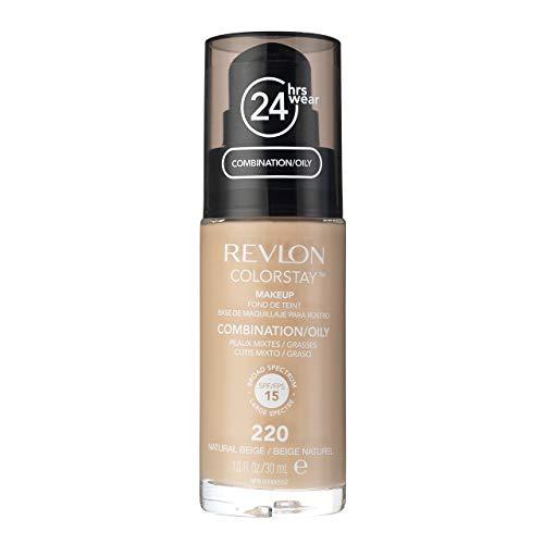 Revlon Colorstay Dispenser Pelle Normale e Mista, Fondotinta Natural Beige - 113 ml