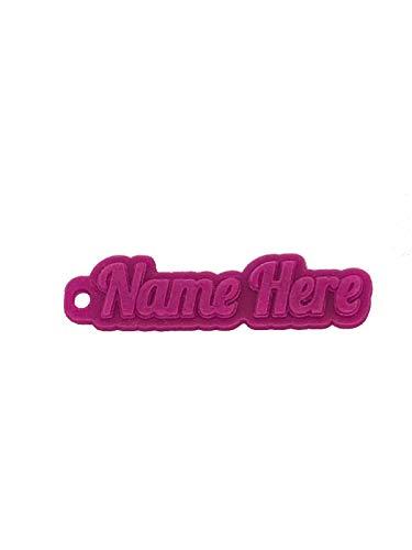 personalisiert Schlüsselring, Schlüsselanhänger 3D Namen Schlüsselanhänger Key Ring Kautschuk Gummi, gummi, transparentes pink