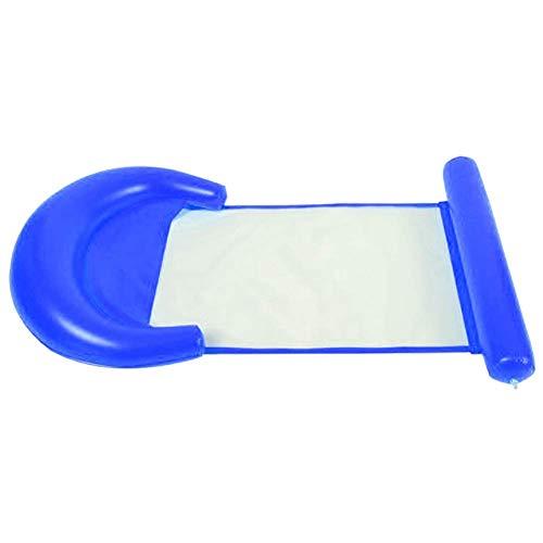 Abracing Aufblasbare Wasserhängematte Schwimmbett Loungesessel Drifter PVC Schwimmbad Strand, blau