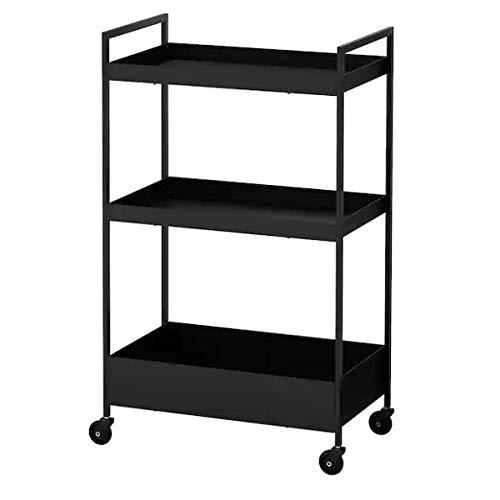 IKEA NISSAFORS Servierwagen in schwarz; (50.5x30x83cm)