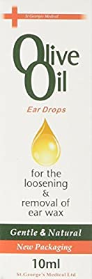 Olive Oil Ear Drops For The Loosening & Removal Of Ear Wax 10ml by St Georges