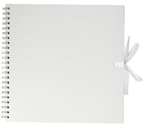 Artemio álbumes de recortes álbum de fotos de espiral 30 x 30 cm, blanco