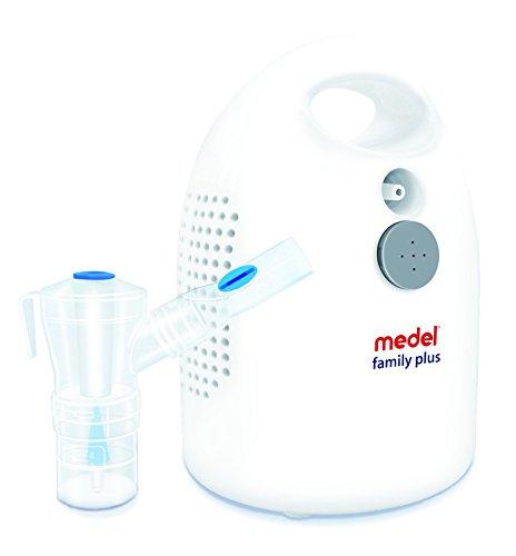 Medel 95143 Family Plus Apparecchio per Aerosolterapia a Compressore, Bianco