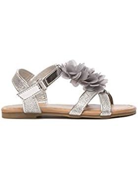 Koo-T Las niñas sandalias flor hebilla gladiador verano playa fiesta infantil tamaño