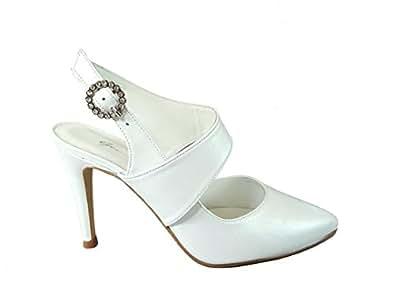 Gennia REALIDAD - Damen Slingback Hochzeit Stiletto Absatz