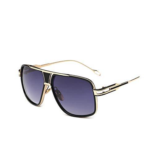 Sportbrillen, Angeln Golfbrille,New Style NEW Sunglasses Men Brand Designer Sun Glasses Driving Oculos De Sol Masculino Grandmaster Square Sunglass 4-Gold-GradientGray