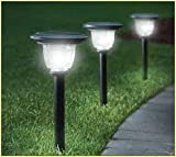 #5: TUZECH Flower and Leaf Solar Powered Rechargeable LED Lawn Garden Light Lamp Auto On Off Waterproof (White, 4 Piece)