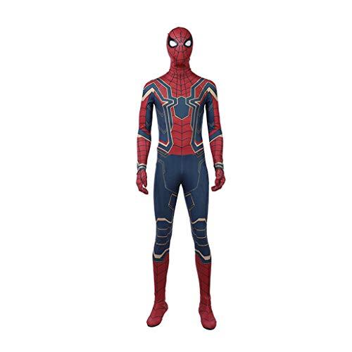 Avengers 3 Spider-Man Stahl Battlesuits Onesies Strumpfhosen Cosplay Kostüme Halloween Kostüme,Red-XXXL