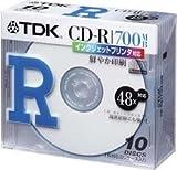 TDK Compact Disc CD-R for data 700MB 1-48x White Inkjet Printable 10Pack 5mm case CD-R80TWX10S (Japan Import)
