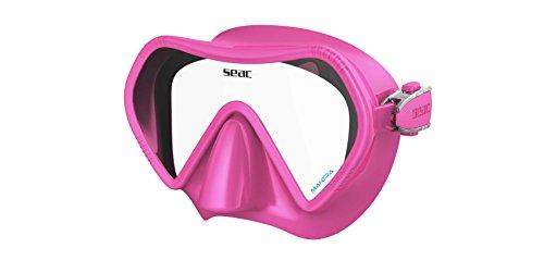 SEAC Unisex- Erwachsene Italia rahmenlose Tauchmaske Kinder aus farbigem Silikon, rosa, medium -