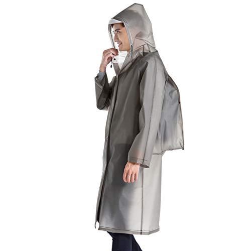 men modische Plain umweltfreundliche Rucksack Regenmantel ()