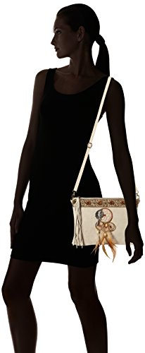 Chicca Borse Damen 1525 Schultertasche, 30x22x2 cm Beige (Beige)