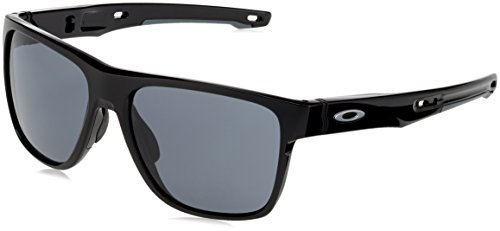 Oakley Herren Crossrange XL 936001 58 Sonnenbrille, Schwarz (Polished Black/Grey),