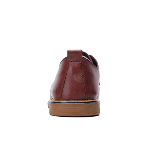 Minitoo LHUS-LH1698, Chaussures de Ville à Lacets Pour Homme Marron
