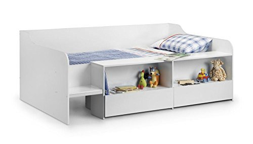 Happy Beds Stella Cabin Bed Low Sleeper White Storage Kids Orthopaedic Mattress 3' Single 90 x 190 cm