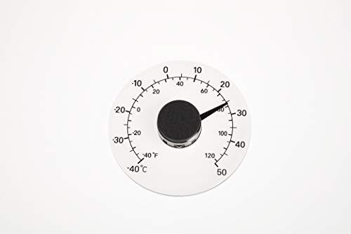 Preiswert&Gut Thermomètre analogique à l'intérieur avec Auto-adhésif Ø 10,8 cm - 40 °C / + 50 °C