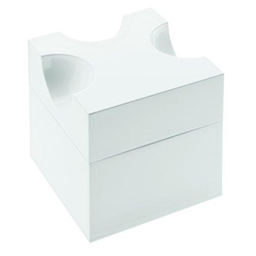 Koziol Piece of Cheese-Plateau à Fromage râpé à Râpe Inclus Centimeters Blanco sólido y Antracita
