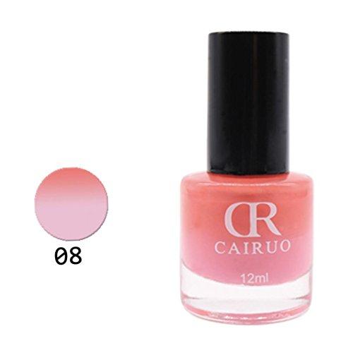 Nail Art 12ML Temperaturkontrolle Farbe ändern Nagellack Gesundheit Nontoxic Nail Oil 26 Farbe (# H) (ändern Der Farbe Nagellack)