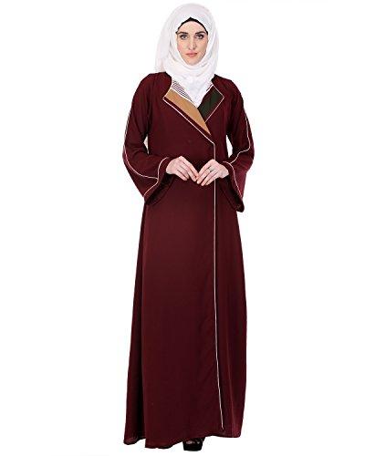 Modest Forever Schokolade Bell Ärmel Mantel Abaya (Schokolade Kimono)