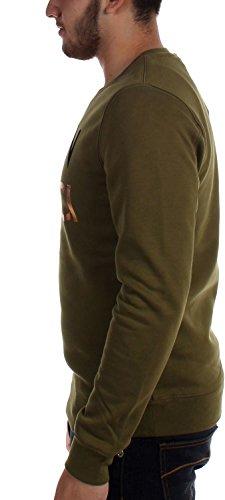 Scotch & Soda - Herren-Grafik Crewneck Sweater Olive