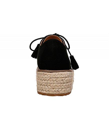 Buonarotti, Black Zapatos Con Cordones De Las Mujeres