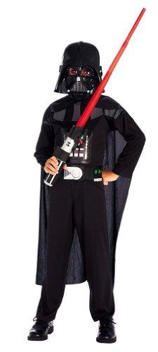 Star Wars Kinder Kostüm Set - 4 teilig mit Umhang, Brustteil, Maske und Lichtschwert ()