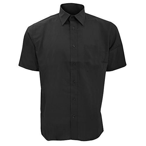 SOLS Herren Berkeley Hemd / Arbeitshemd, Kurzarm (4XL) (Schwarz) (Kurzarm-arbeitshemd Button-down)