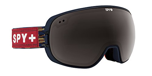 Spy Snow Goggle Doom-Party Fatigue (with/Bonus Lens), Grey W/Black Mirror + Persimmon Contact, One Size