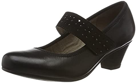 Femmes Noir Mary Jane Shoes - Jana 24301 - Mary Jane - Mary