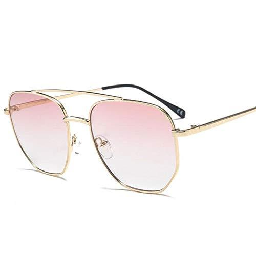 AAMOUSE Sonnenbrillen Neue übergroße quadratische Sonnenbrille Herrenmode Korea Goldbraun verlaufende Sonnenbrille mit Farbverlauf