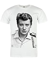 Magic Custom Johnny Hallyday - T-Shirt Blanc Young Johnny