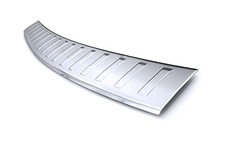 tuning-art BL939 Ladekantenschutz mit 3D Profil Abkantung fahrzeugspezifische Passform, Farbe:Silber